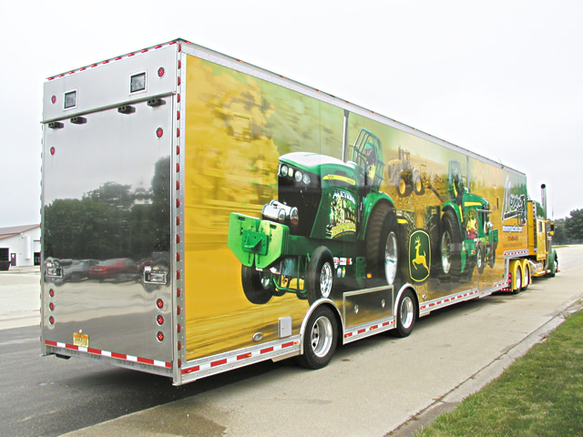 Tractor Pulling Trailer : Car trailers by t e auto haulers custom built